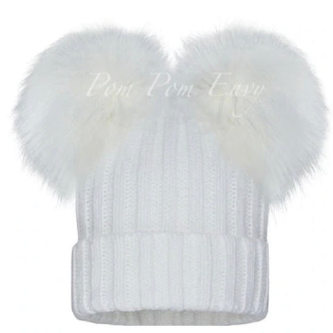 Pom Pom Envy White Double