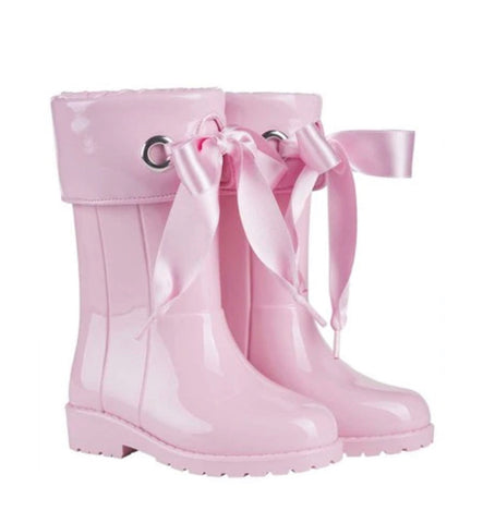 Igor Pink Bow Wellies