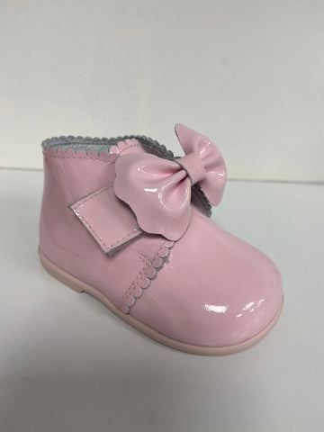 Andanines Pink Velcro Bow Boot