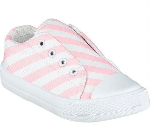 A Dee Stripe Canvas Trainers