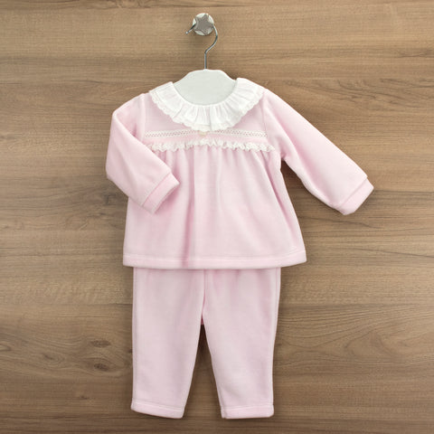 Babidu Pink Velour Set