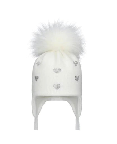 Pom Pom Envy White Hearts