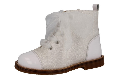 Andanines White Glitter Boot