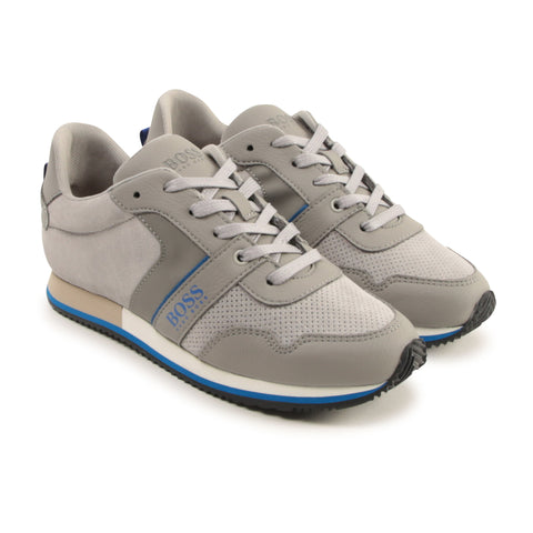BOSS Grey Trainers J29253