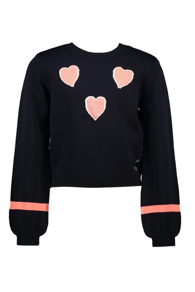 Le Chic Navy Heart Jumper