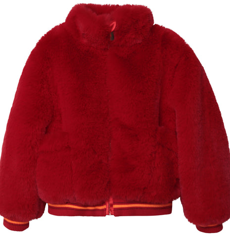 Faux Fur Red Jacket