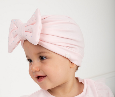 Caramelo Pink Bow Turban
