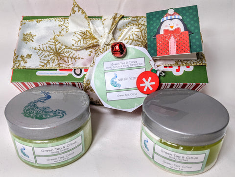 Green Tea & Citrus (4 oz. Body Scrub & 4 oz. Body Parfait Set )