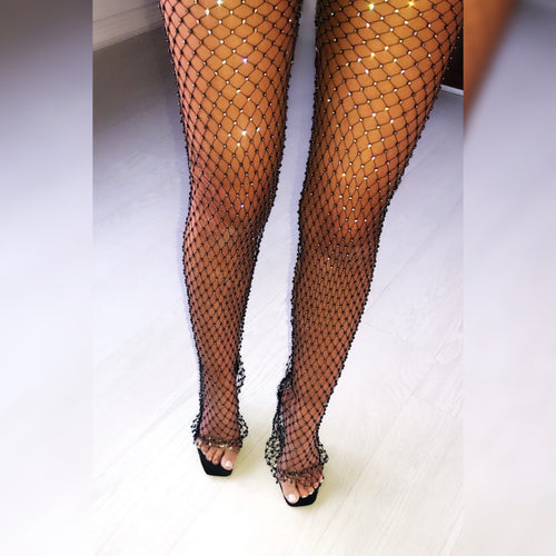 MESH CRYSTAL PANTS
