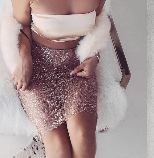 ROYALTY GLITTER SKIRT
