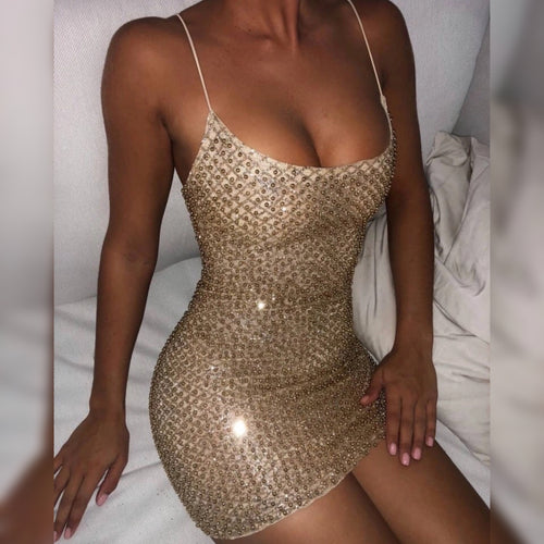 CANDICE GOLD GLITTER DRESS