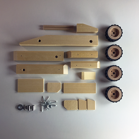 wooden toy racing car components