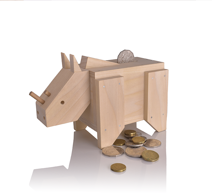 Money Box (Sudan) $2 from every sale goes to Save The Rhino International