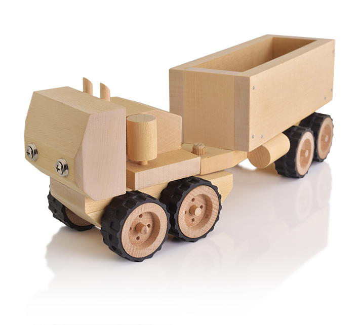 Wooden Toy Cars And Trucks : Long wooden toy truck for kids to build