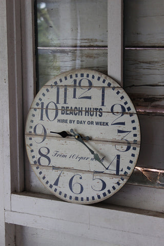 Beach Hut Clock