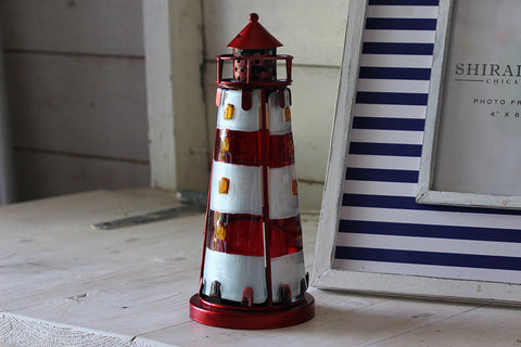 Lighthouse Tealight Holder With Stained Glass
