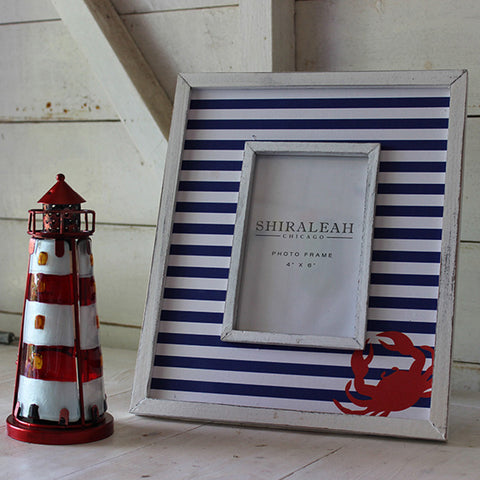 Blue Nautical Stripe Photo Frame