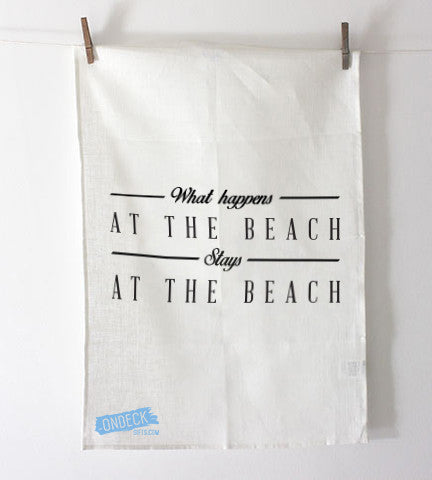 At The Beach Tea Towel