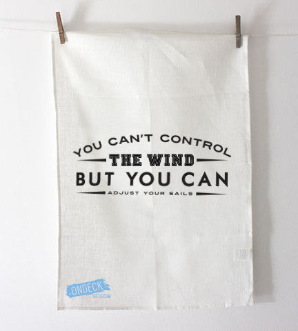 Adjust Your Sails Tea Towel