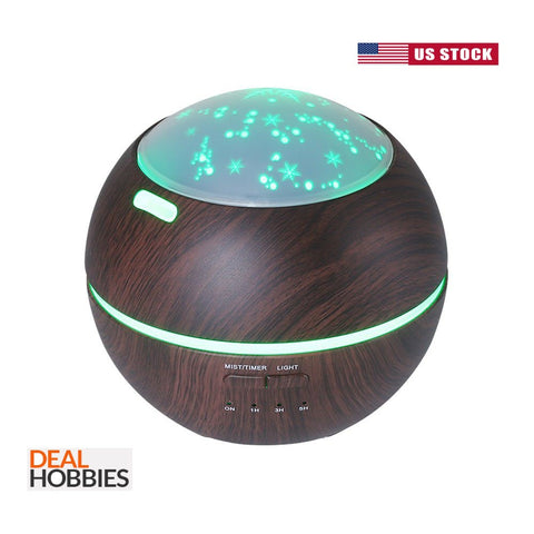 Aroma Essential Oil Diffuser Wood Grain Ultrasonic Aromatherapy Humidifier 150ML