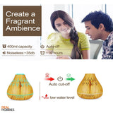 Aroma Essential Oil Diffuser Wood Grain Ultrasonic Aromatherapy Humidifier 400ML