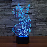 New Ninja Cool Super Hero RGB 3D LED Night Light Desk Lamp Multicolor RGB Bulb Christmas Home Decor Kids Gift Novelty Toy