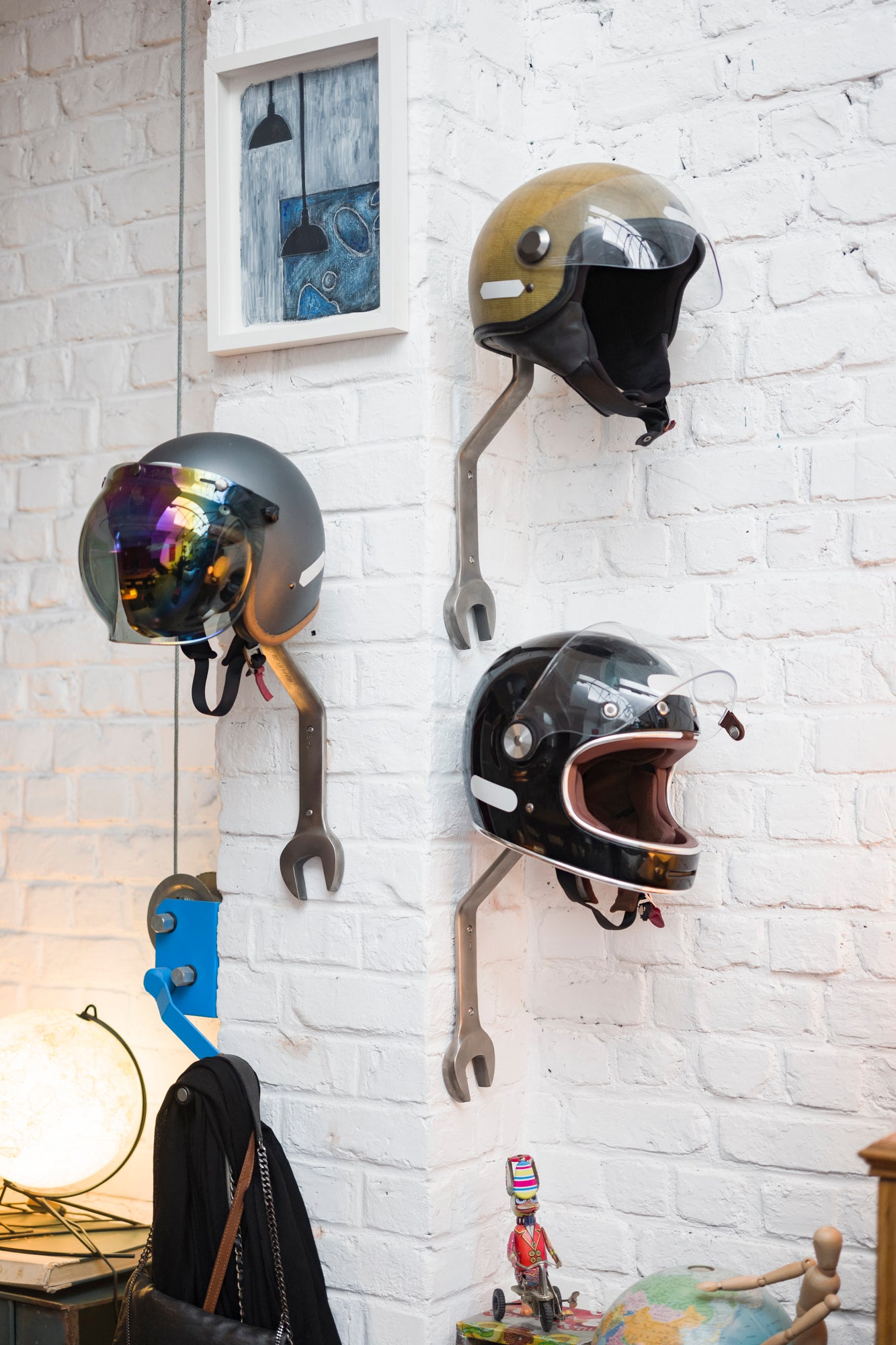Motorcycle Helmet Rack