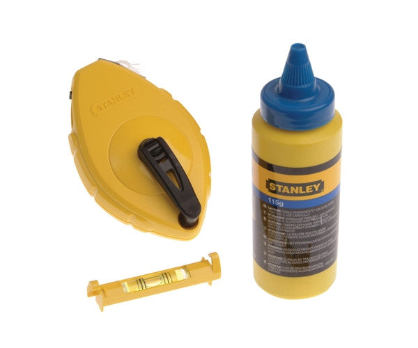 Stanley Chalk Line & Level 30m / 100' 0-47-443