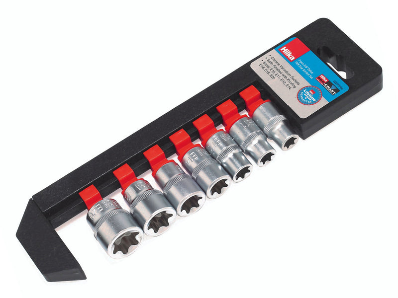 Hilka 7pc Torx Star Socket Set 3/8 Inch Drive