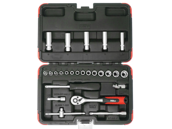 Hilka 25pc Metric Socket Set 1/4 Inch Drive