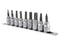 Toolzone 9pc Hex Socket Set with Rail