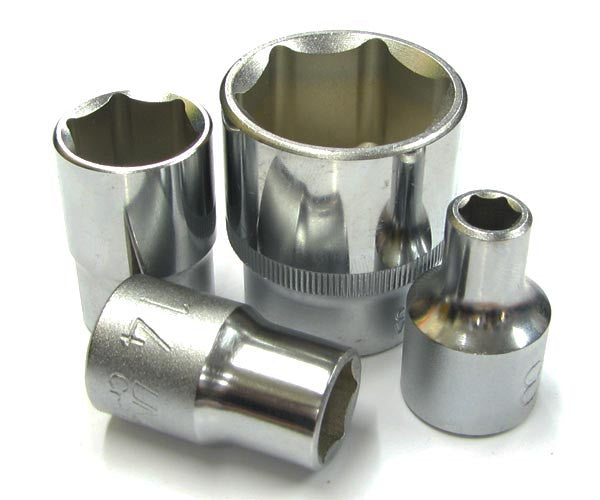 Single 1/2 Inch Drive Cr-V Sockets 8-32mm
