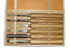 6pc Luban HSS Wood Turning Chisel Set