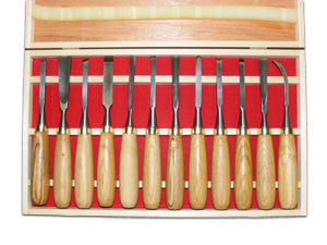 12pc Luban Wood Carving Chisel Set