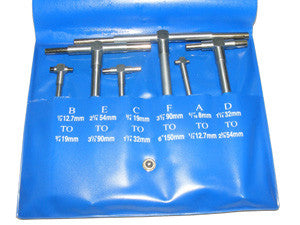 6pc Telescopic Gauges 1/2 Inch to 6 Inch