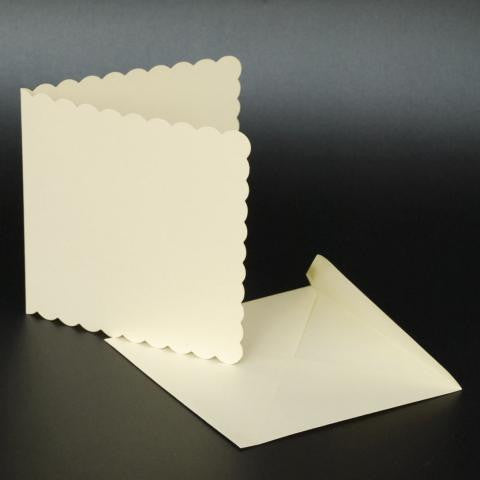 "5"" x 5"" Scalloped Edge Cards with Envelopes"