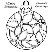 Patch Poinsettia Bauble