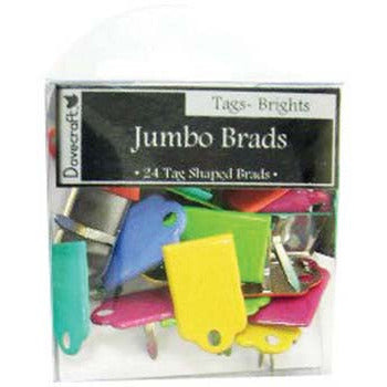 Brads - Jumbo Tags - Various Colours