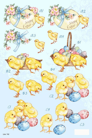 3D Easter Chicks Die Cuts