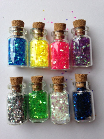 Mini Craft Jars - Mini Sequins Glitter