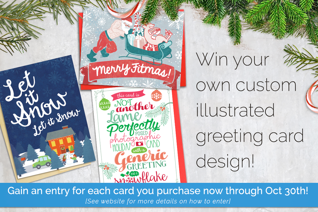 You Could Win a Customized Greeting Card!