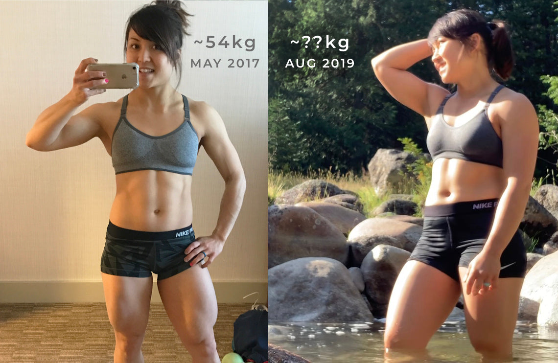 Before and After - 55kg weight class to something more