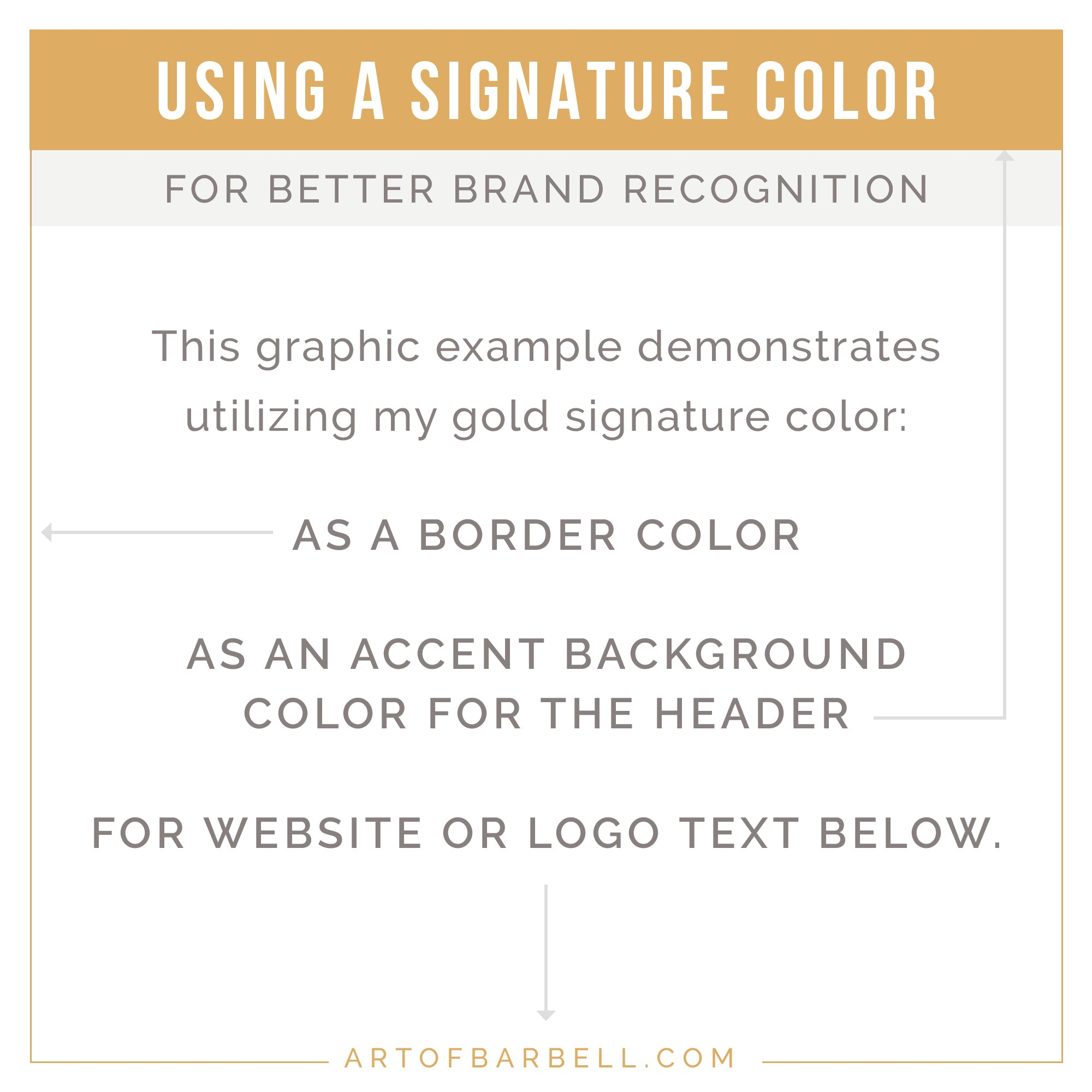 Using a Signature Color for improving your Brand recognition in your graphics - @artofbarbell_