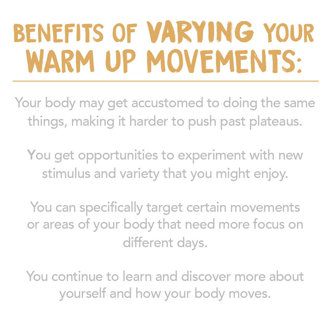 Benefits of changing up your warm up routine for weightlifting