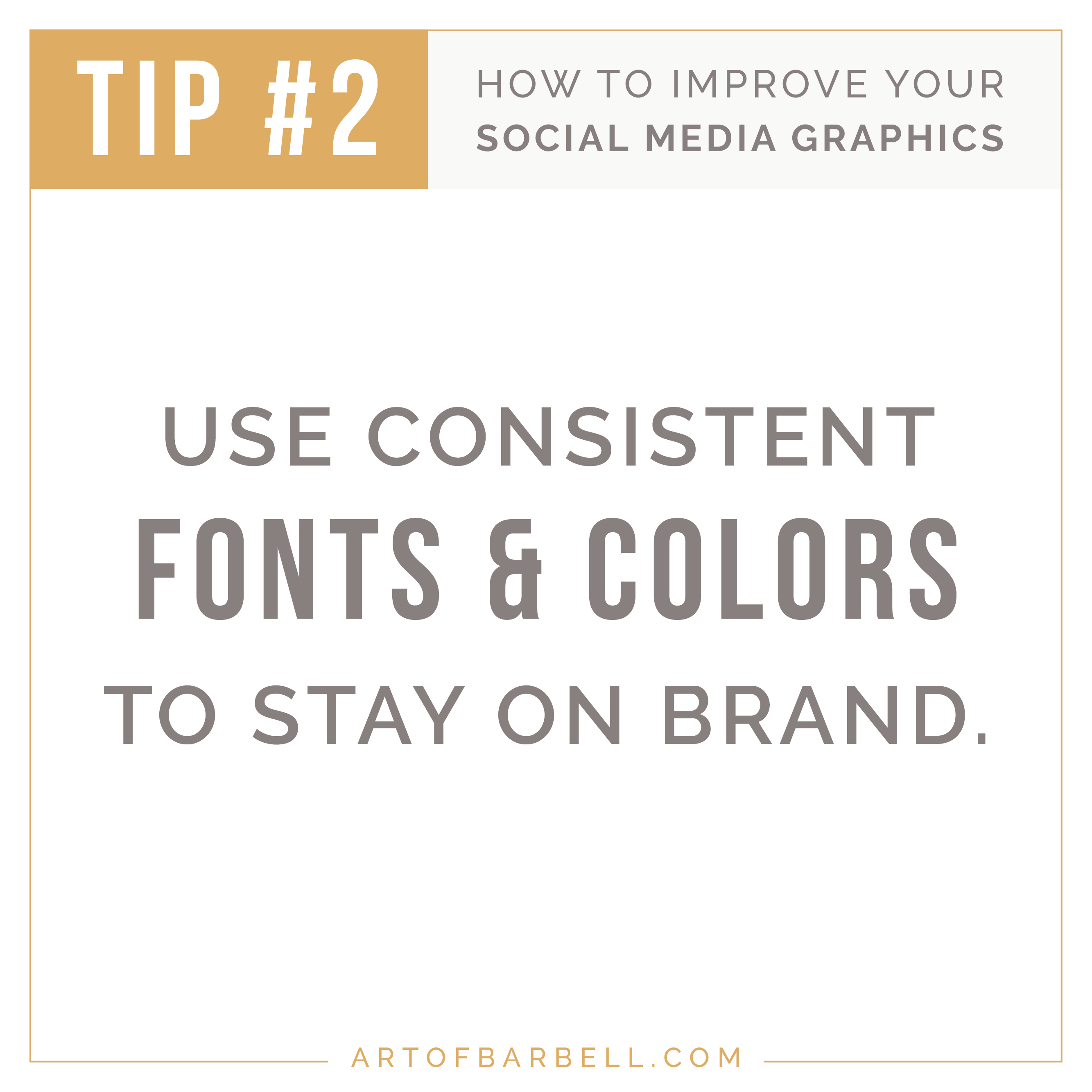 Tip # 2 on How to Improve Your Instagram Graphics - Use Consistent Fonts and Colors for Brand Recognition