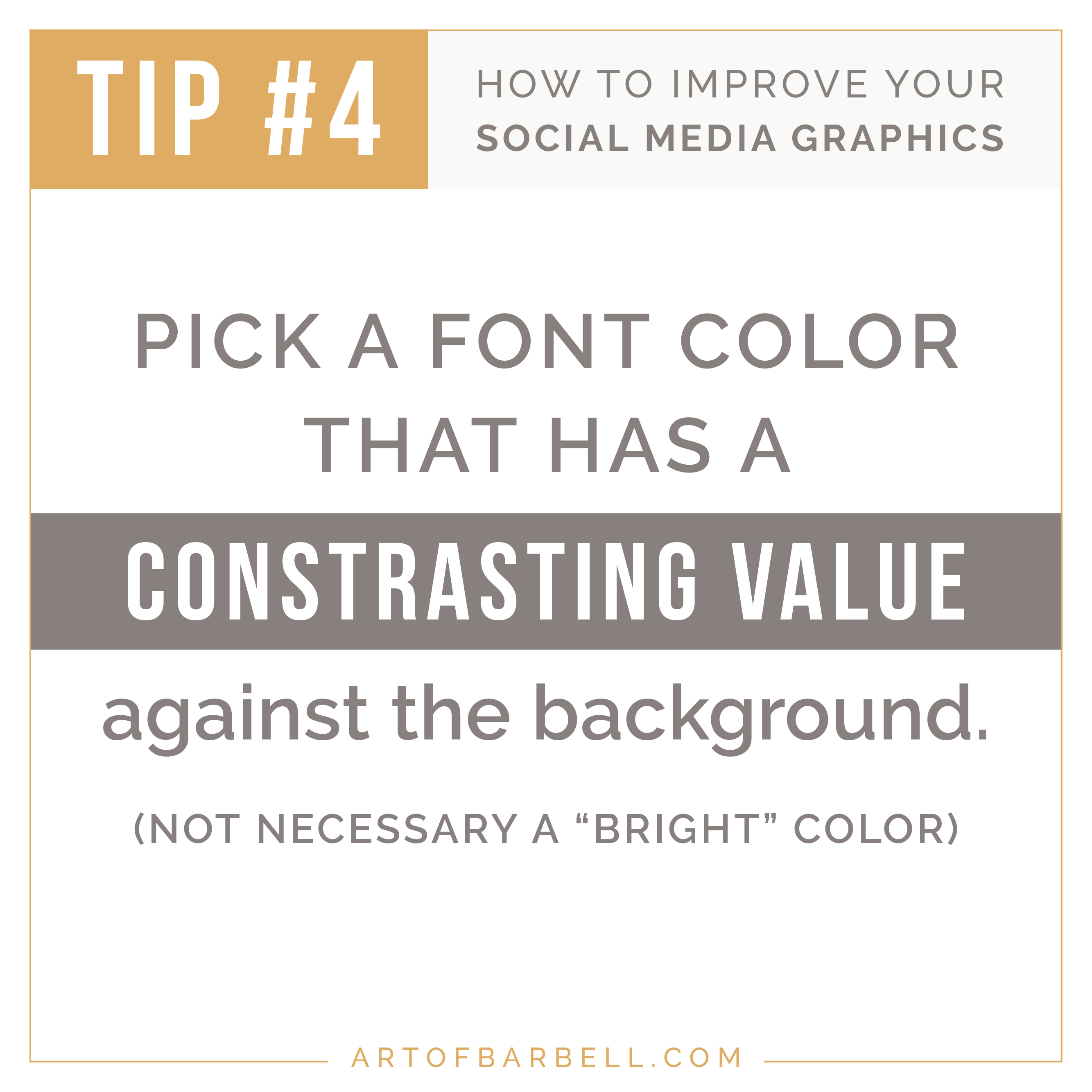 Tips for Creating Better Social Media Graphics: TIp #4 Use a Font Color that Contrasts Against the Background