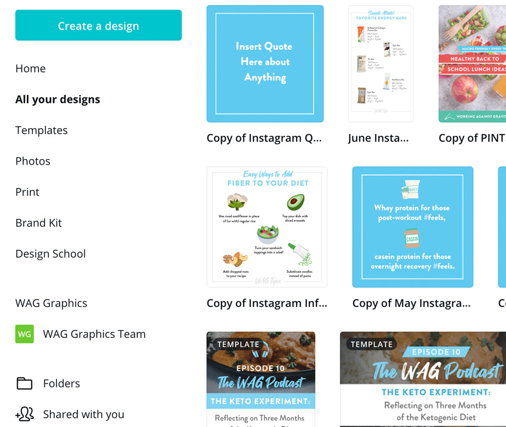 Custom Canva Social Media Templates by Art of Barbell for Working Against Gravity