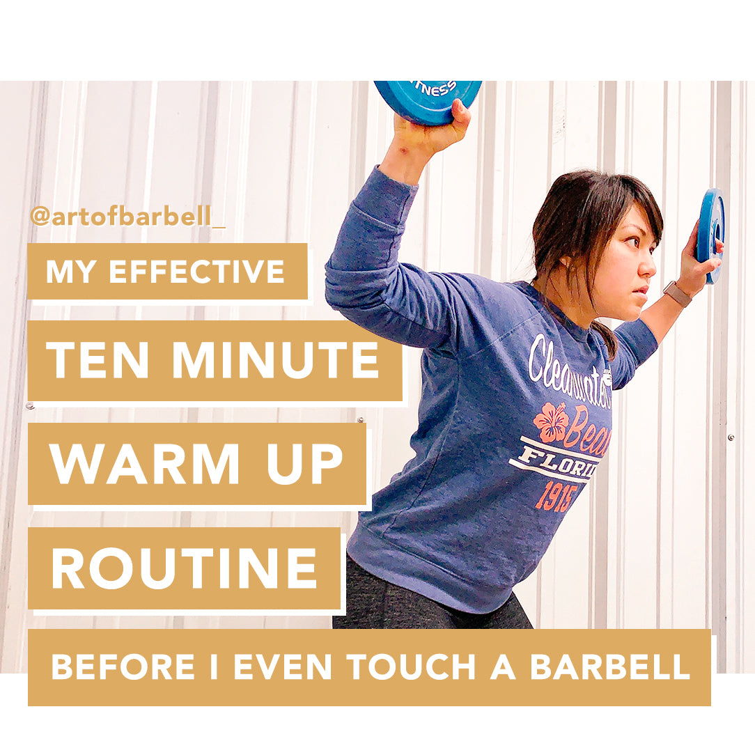 10 minute warm up routine for weightlifting before touching a barbell
