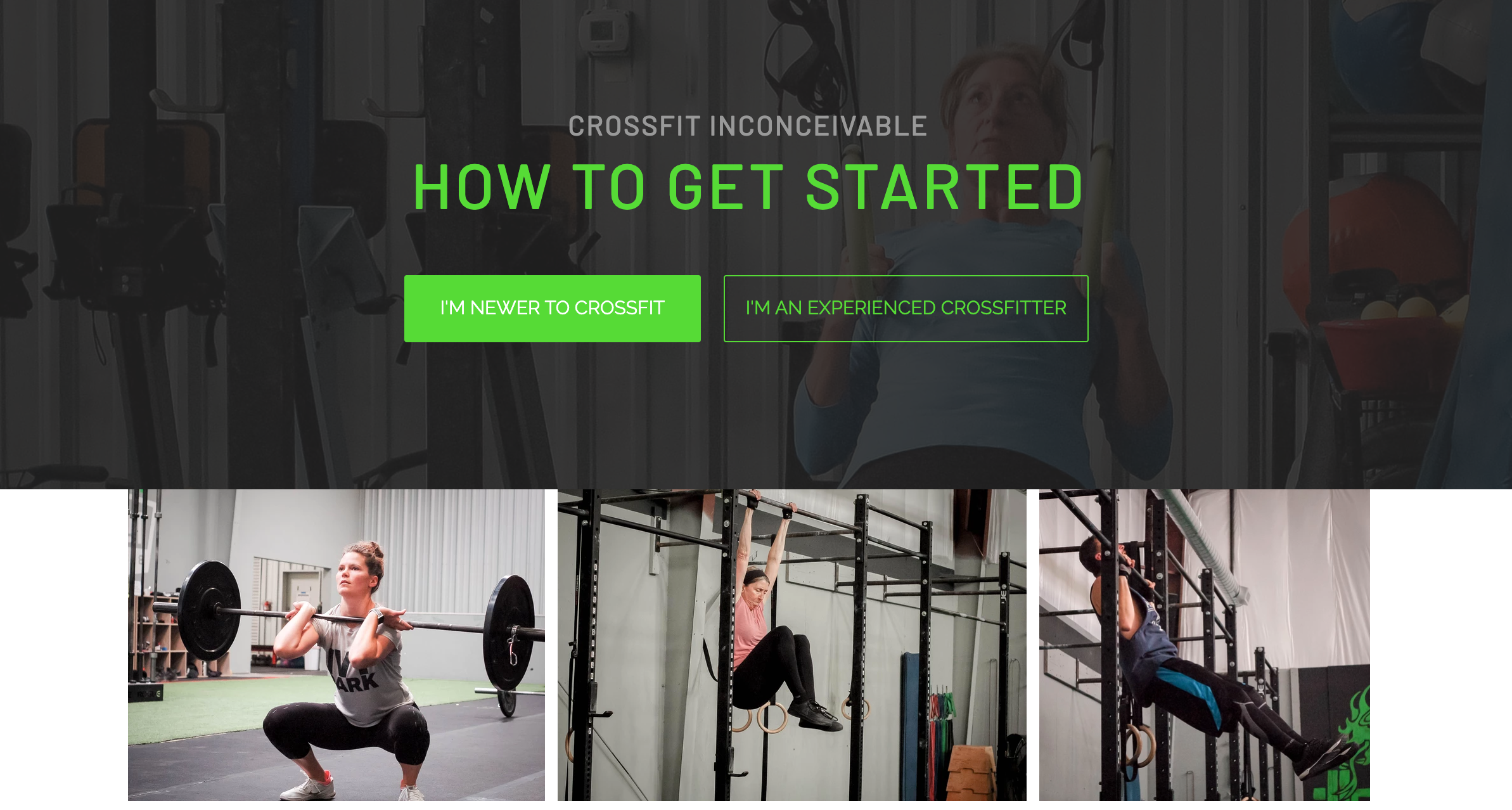CrossFit Inconceivable Website Design by Art of Barbell