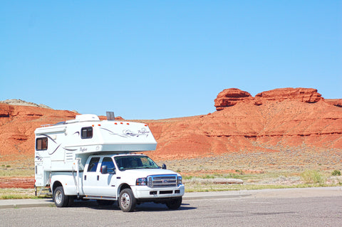 Bigfoot 2002 Camper Parked at Bighorn Canyon Recreational Area